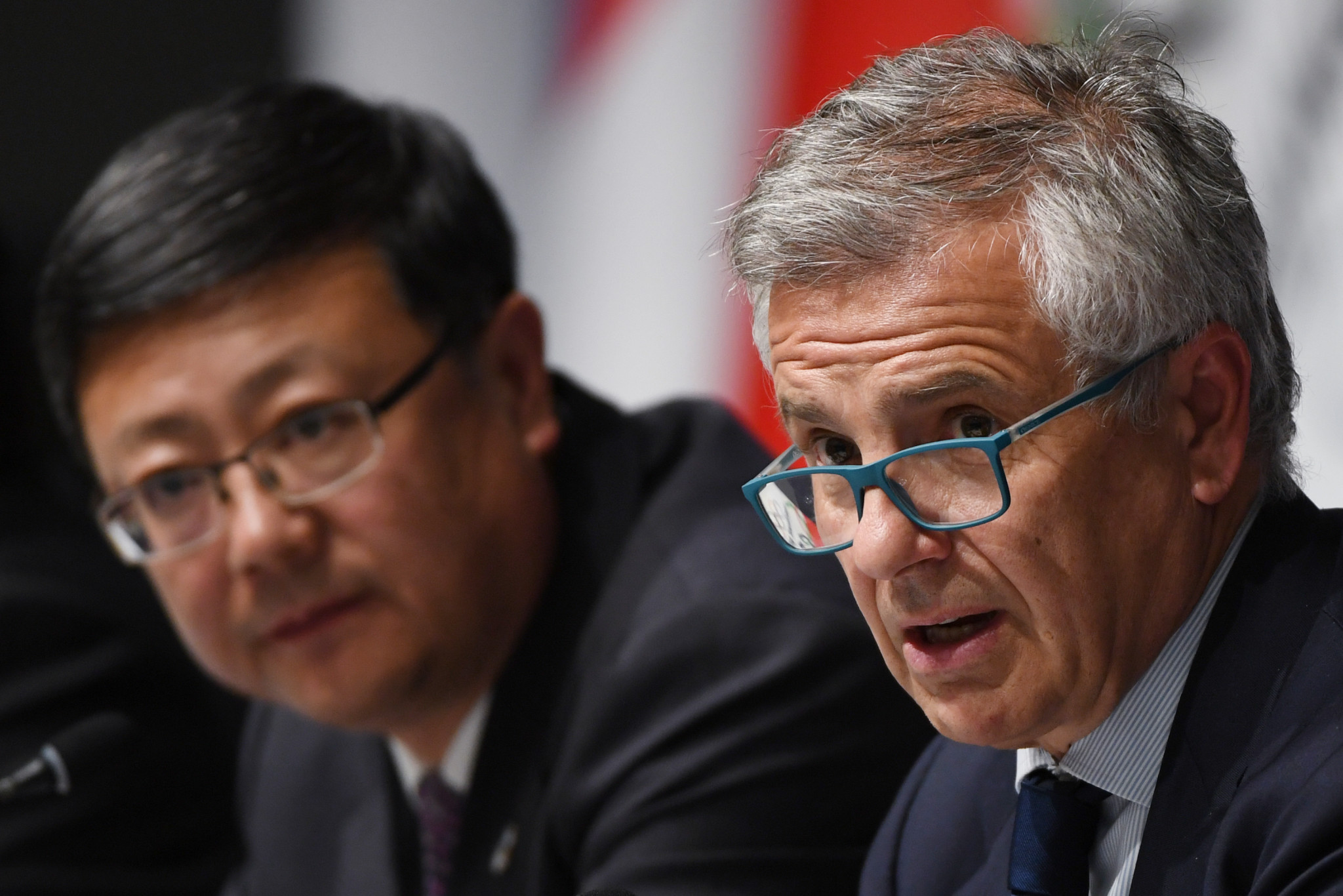 Beijing Mayor Chen Jining and IOC vice-president Juan Antonio Samaranch, the interim chairman of the IOC Coordination Commission for Beijing 2022, both spoke in a press conference following the conclusion of the debrief's two-day strategic learning phase ©Getty Images