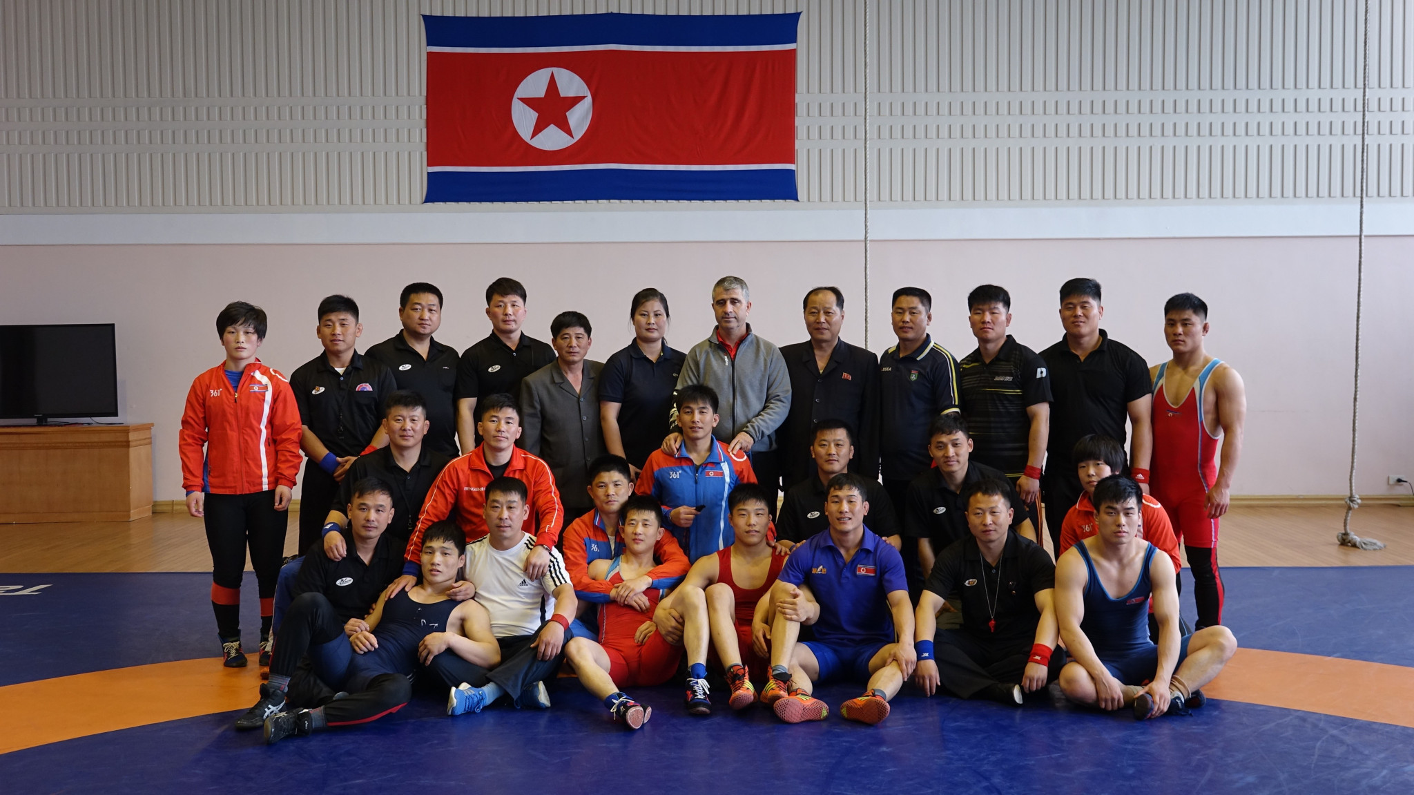 United World Wrestling visited North Korea to deliver a referees course in the secretive state ©UWW