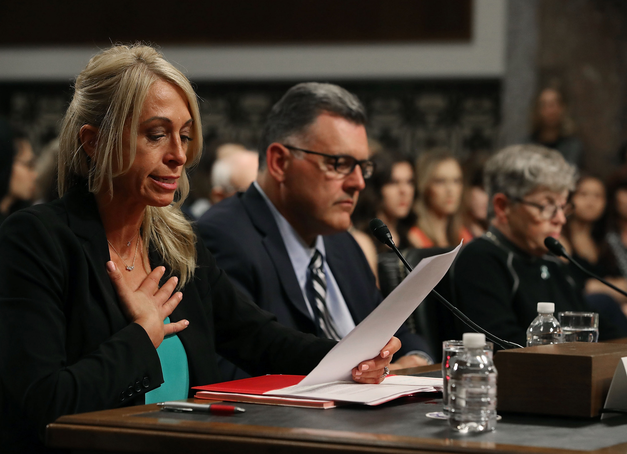 Rhonda Faehn did answer questions at the hearing ©Getty Images