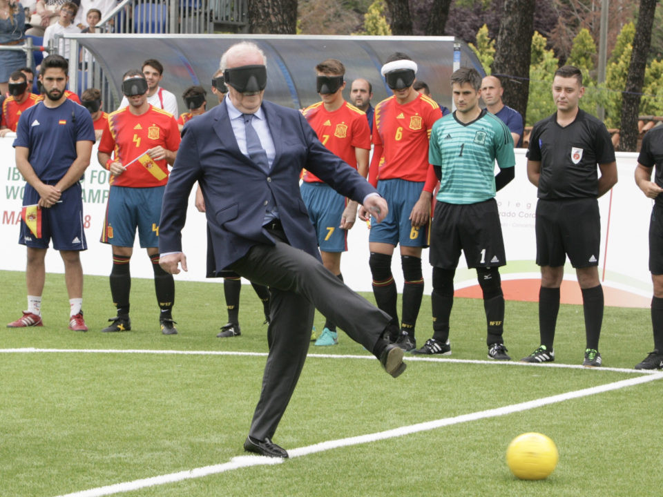 Vicente del Bosque attended the Opening Ceremony ©IBSA