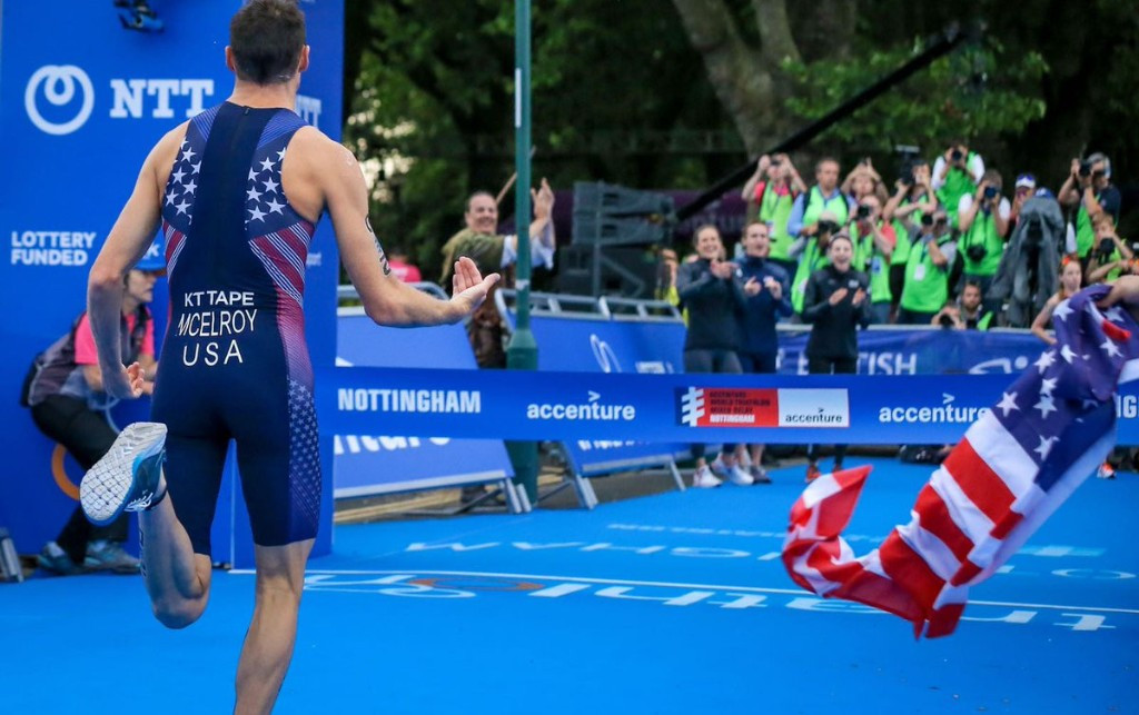 United States claimed victory in the mixed relay event in Nottingham ©ITU