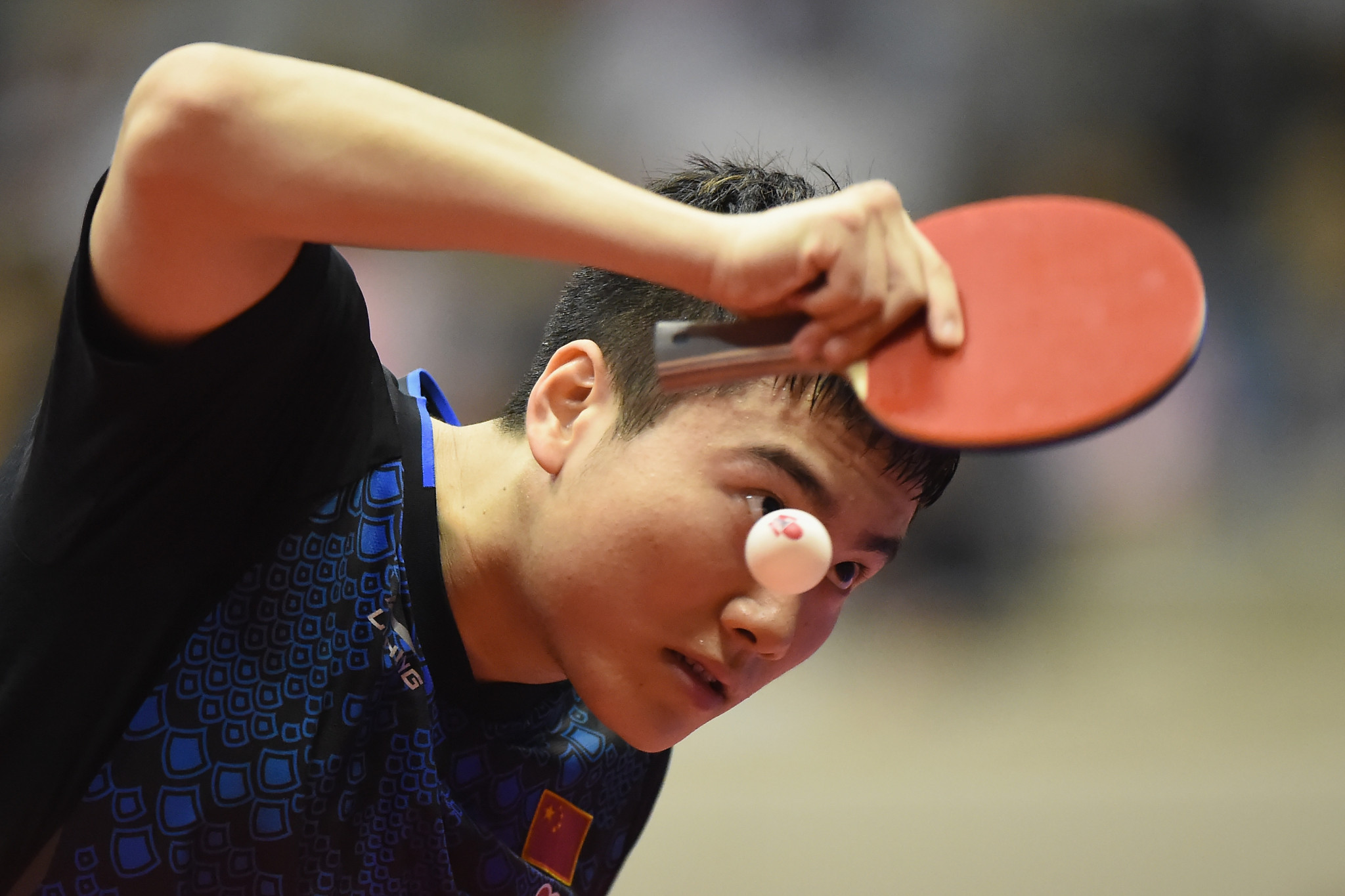 Liang Jingkun caused another shock at the Japan Open ©Getty Images