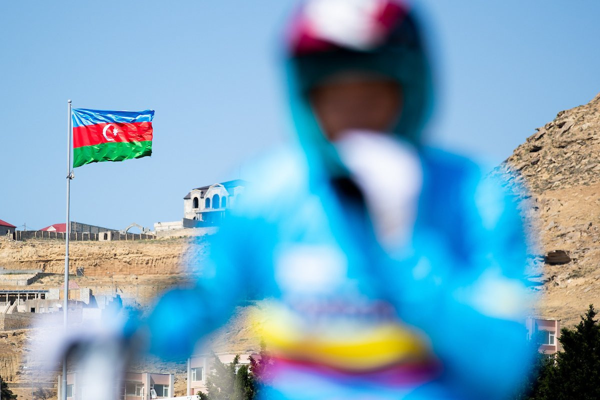 High winds prevented racing in Baku today at the UCI BMX World Championships ©UCI