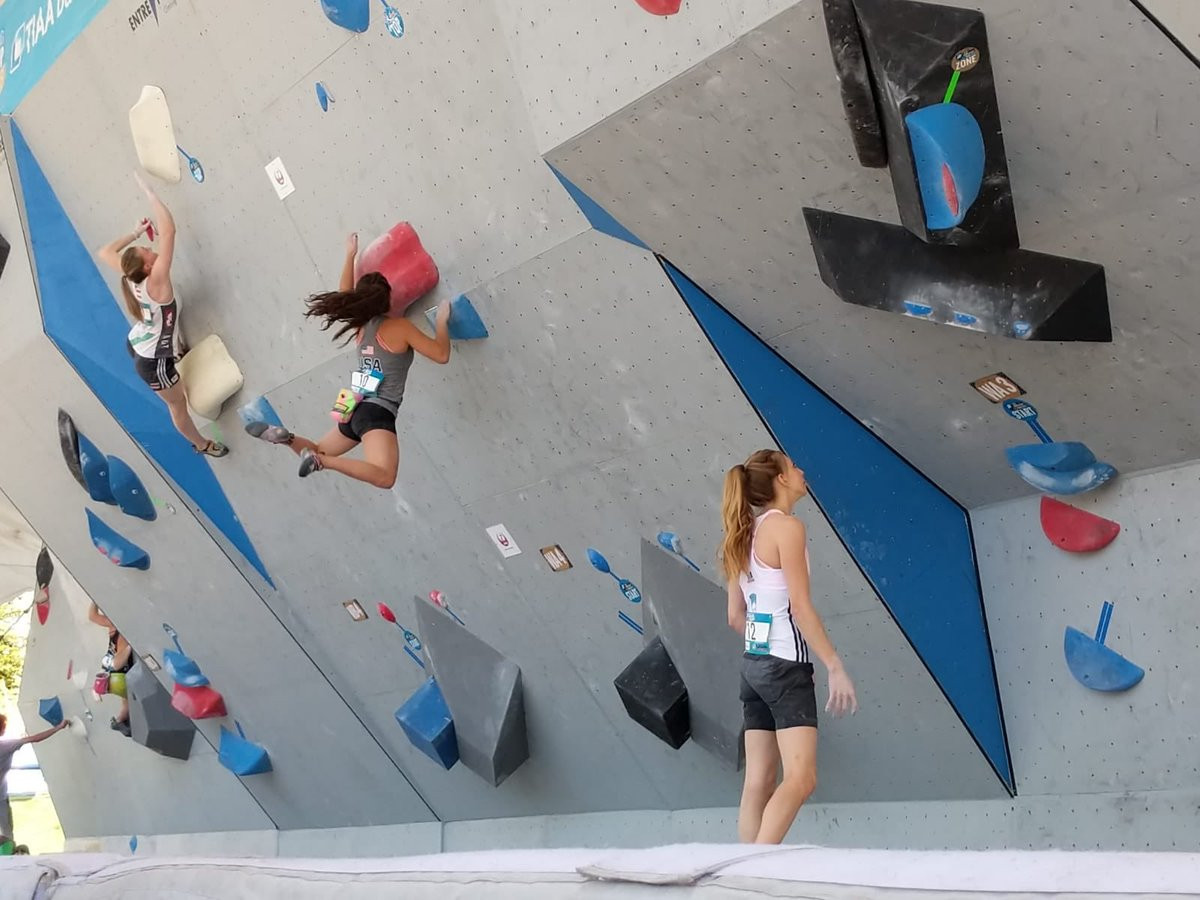 World Cup leader Akiyo Noguchi booked her semi-final place in the women's event ©IFSC