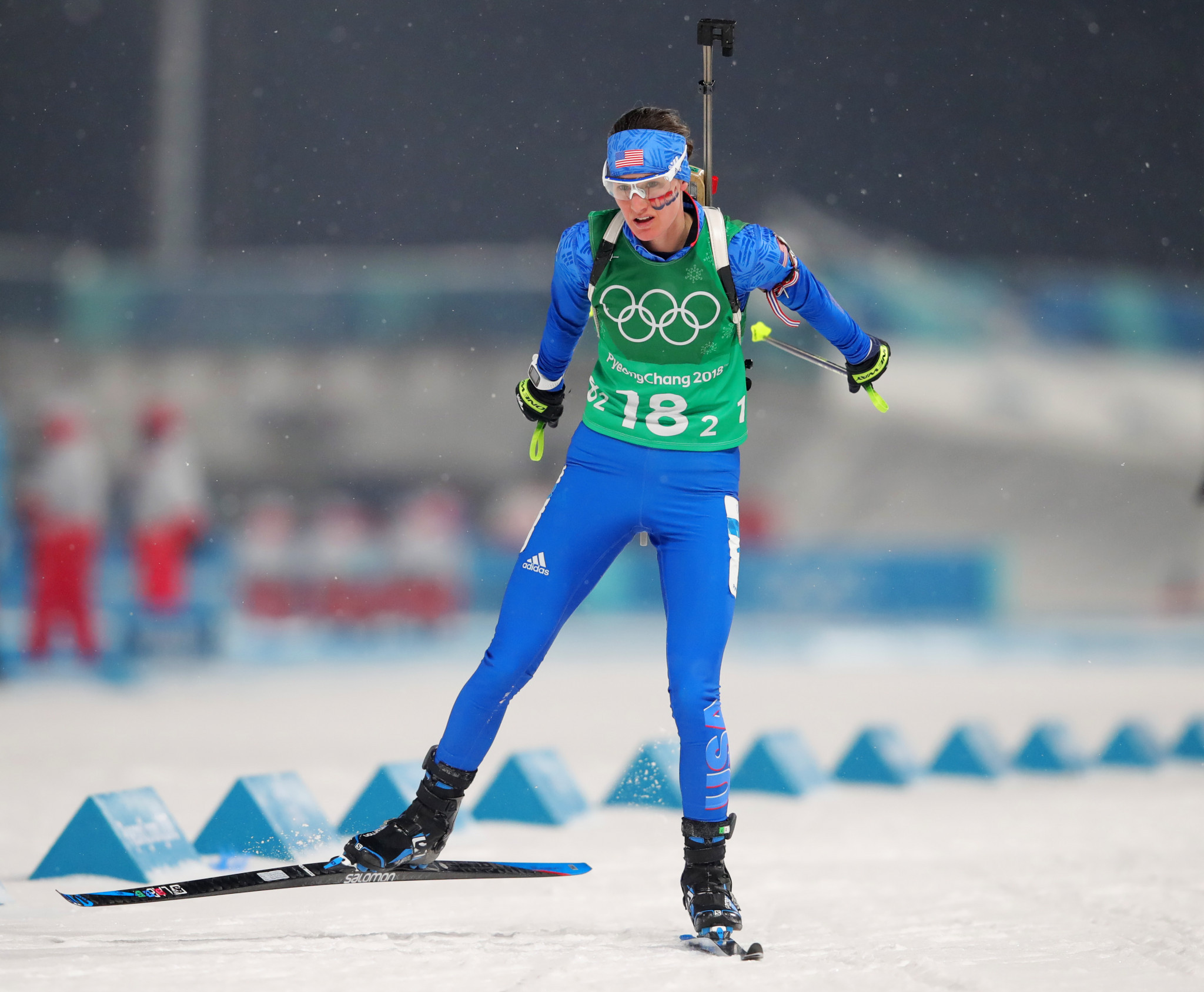 IBU Athlete Committee chair Clare Egan claimed the corruption scandal could be the change biathlon needs ©Getty Images