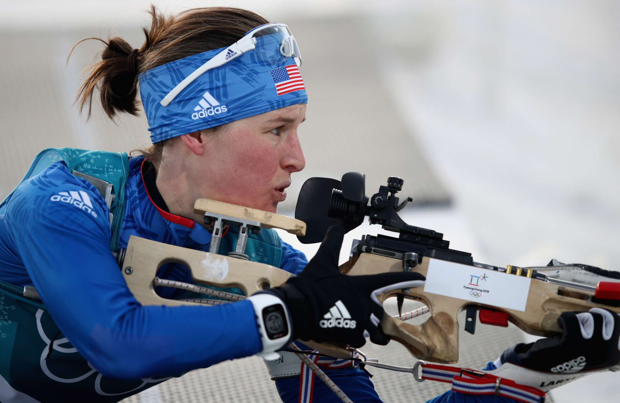 Clare Egan represented the United States at Pyeongchang 2018 ©Getty Images