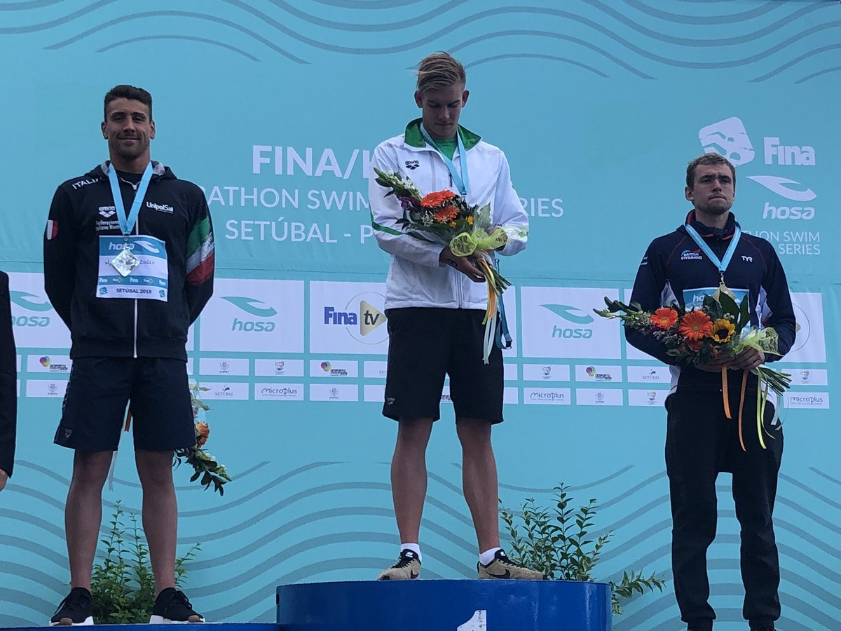 Rasovsky and Anderson claim gold in third FINA Marathon Swim World Series event in Setubal