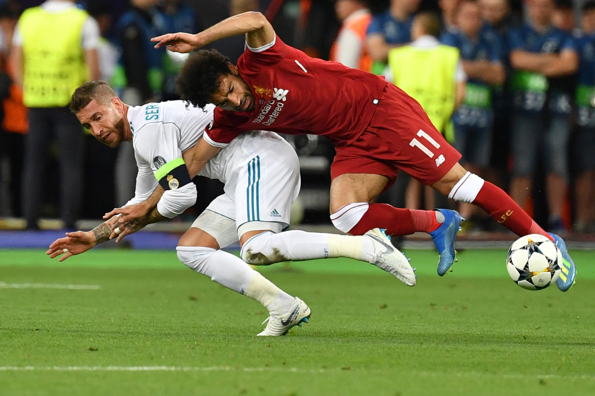 Sergio Ramos reportedly said Mohamed Salah could have continued playing in the Champions League final had he had an injection ©Getty Images