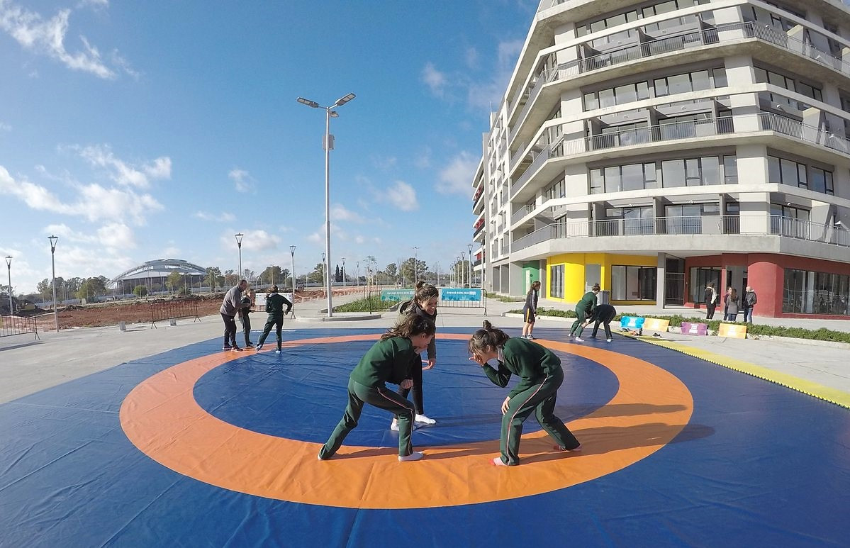 Children who toured the Village also got to try out 10 sports on the Buenos Aires 2018 programme ©Buenos Aires 2018