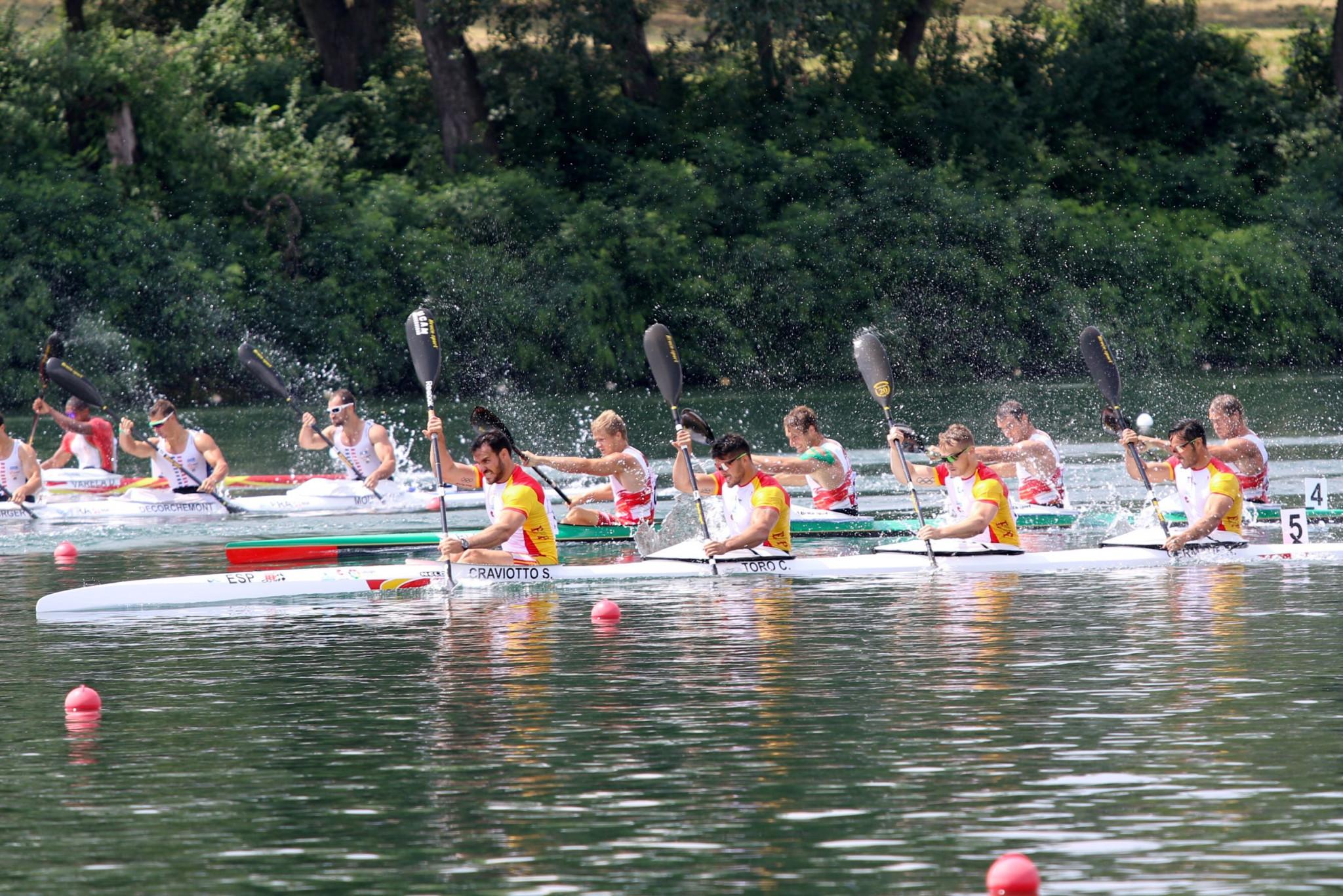 Spain win dramatic K4 race as European Canoe Sprint Championships conclude