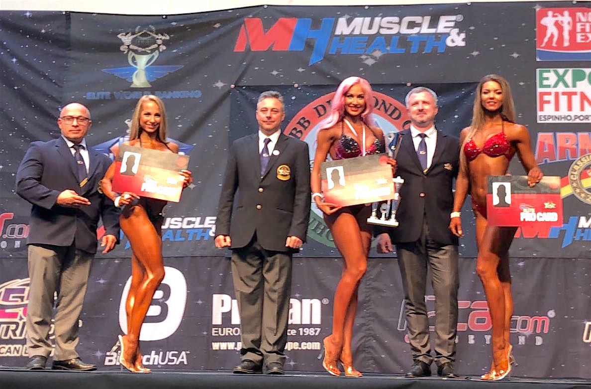 Darya Sitdzikava won the bikini fitness event in Portugal ©IFBB