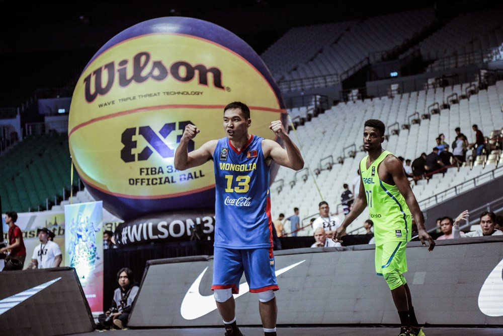 Mongolia had a very successful day at the FIBA 3x3 World Cup by beating both Russia and Brazil ©FIBA