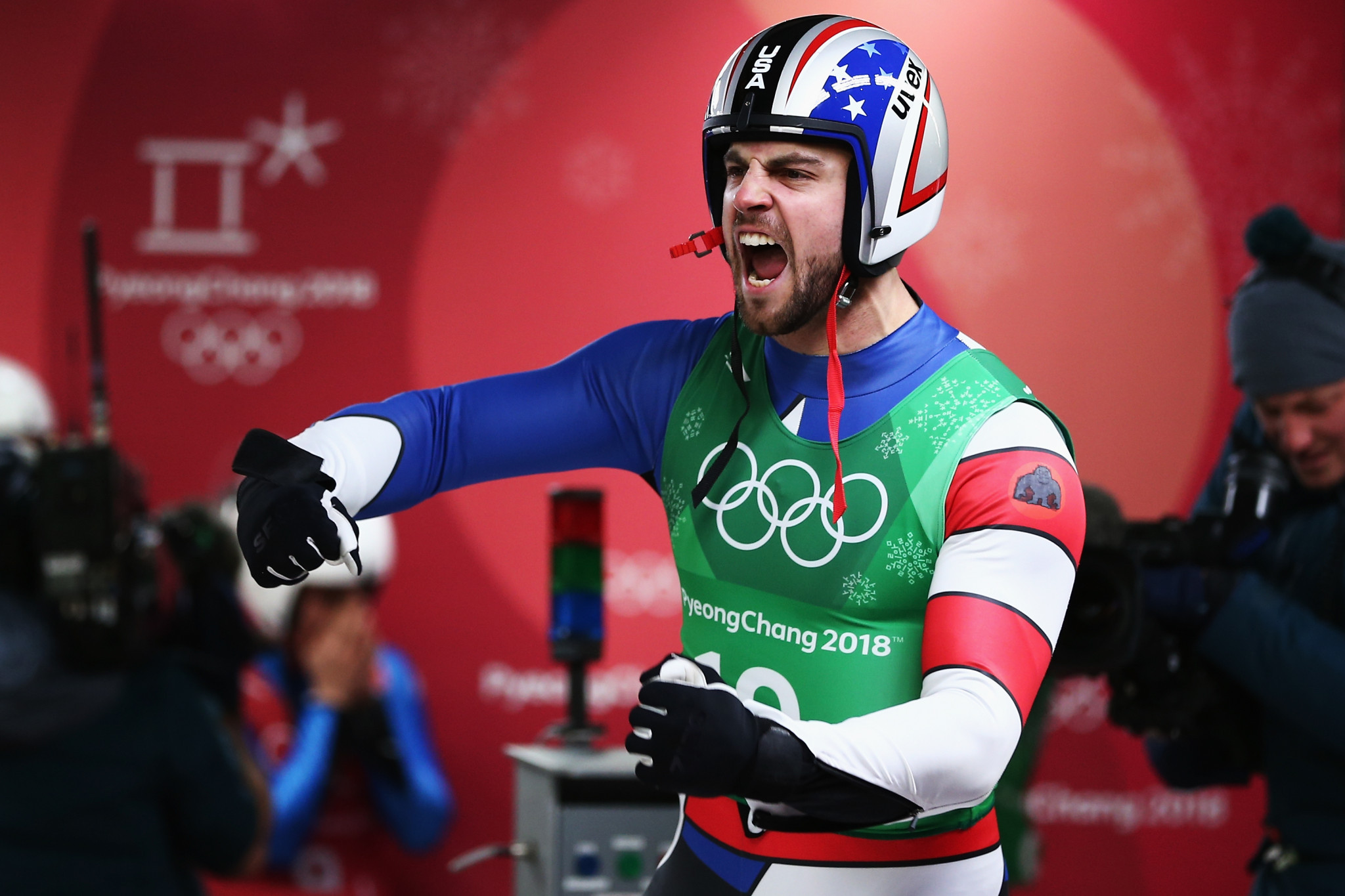 Chris Mazdzer won an Olympic silver medal at Pyeongchang 2018 ©Getty Images