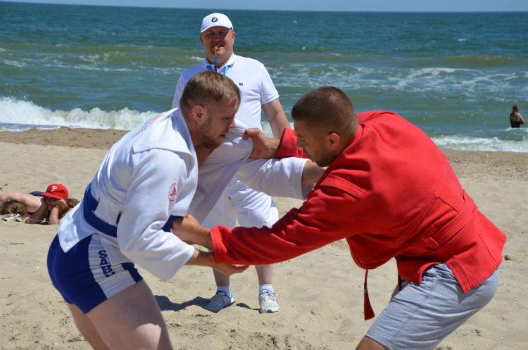 Odessa hosts first Ukrainian National Beach Sambo Championships