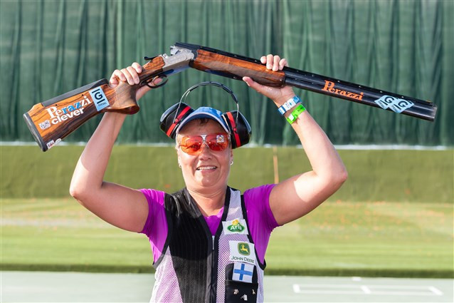 Finland's Satu Mäkelä-Nummela secured her second consecutive victory on the ISSF World Cup circuit ©ISSF