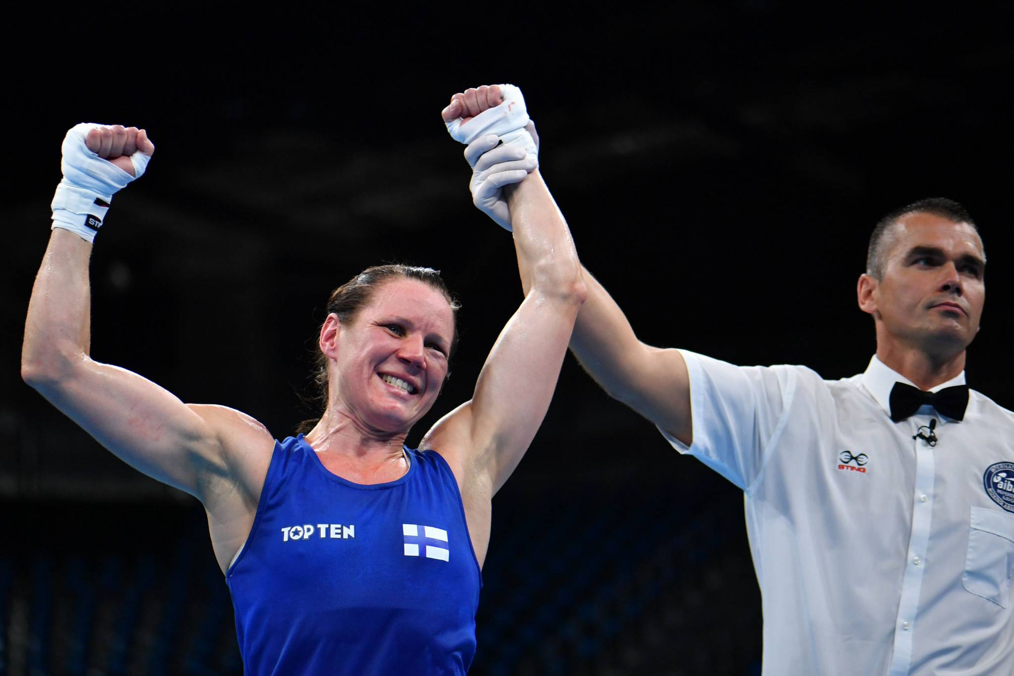Finland's Mira Potkonen claimed gold in the women's 60kg lightweight competition ©Getty Images