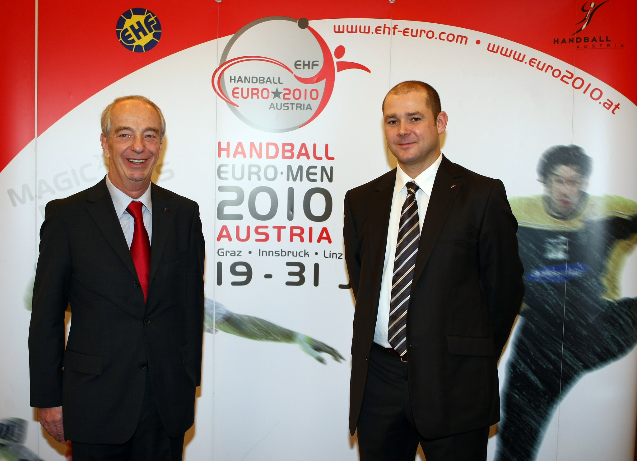 Martin Hausleitner, right, hopes the deals with NENT Group, Infront and Perform will help grow the sport ©Getty Images