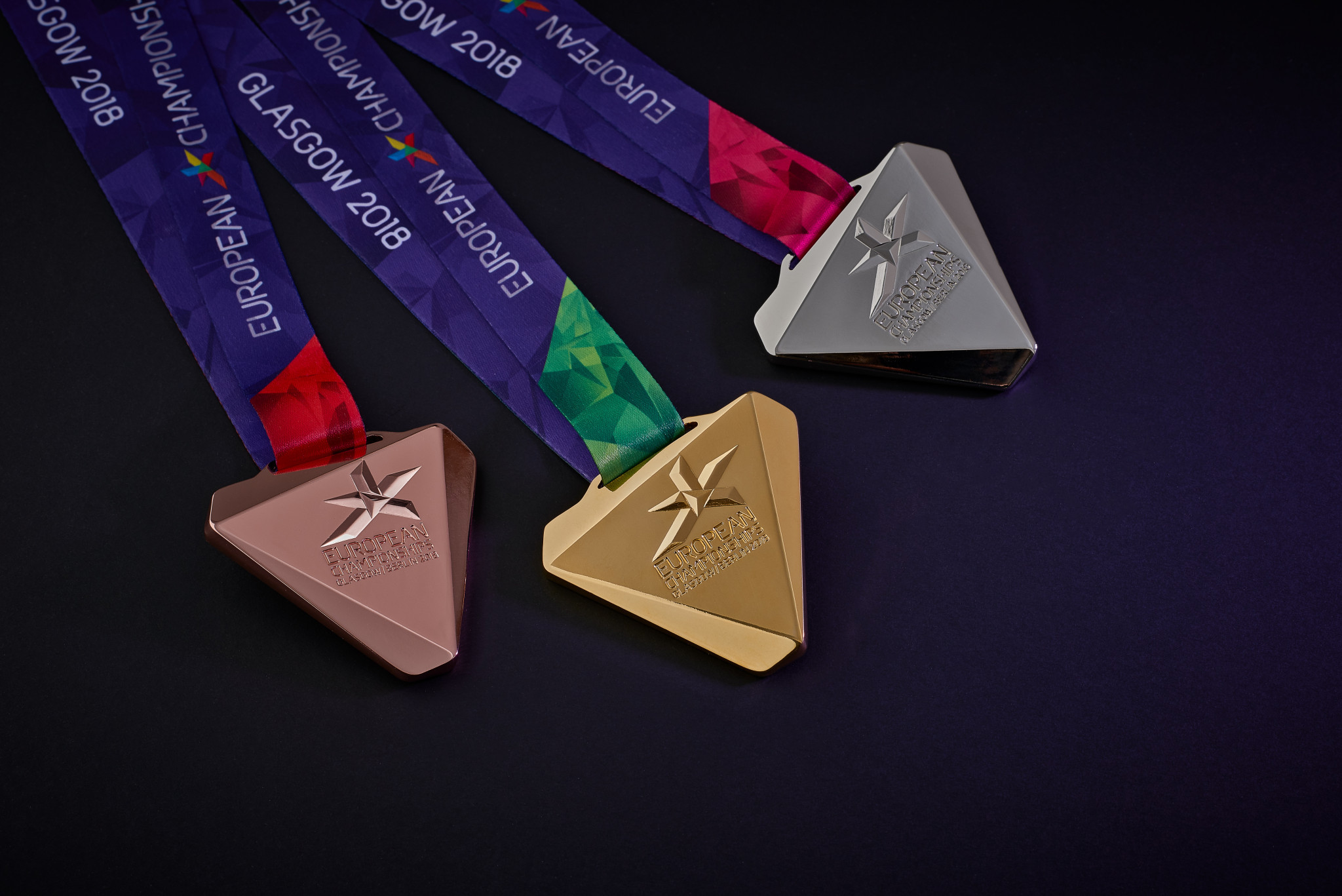 The medals design has been revealed to mark 50 days until the start of Glasgow 2018 ©Glasgow 2018