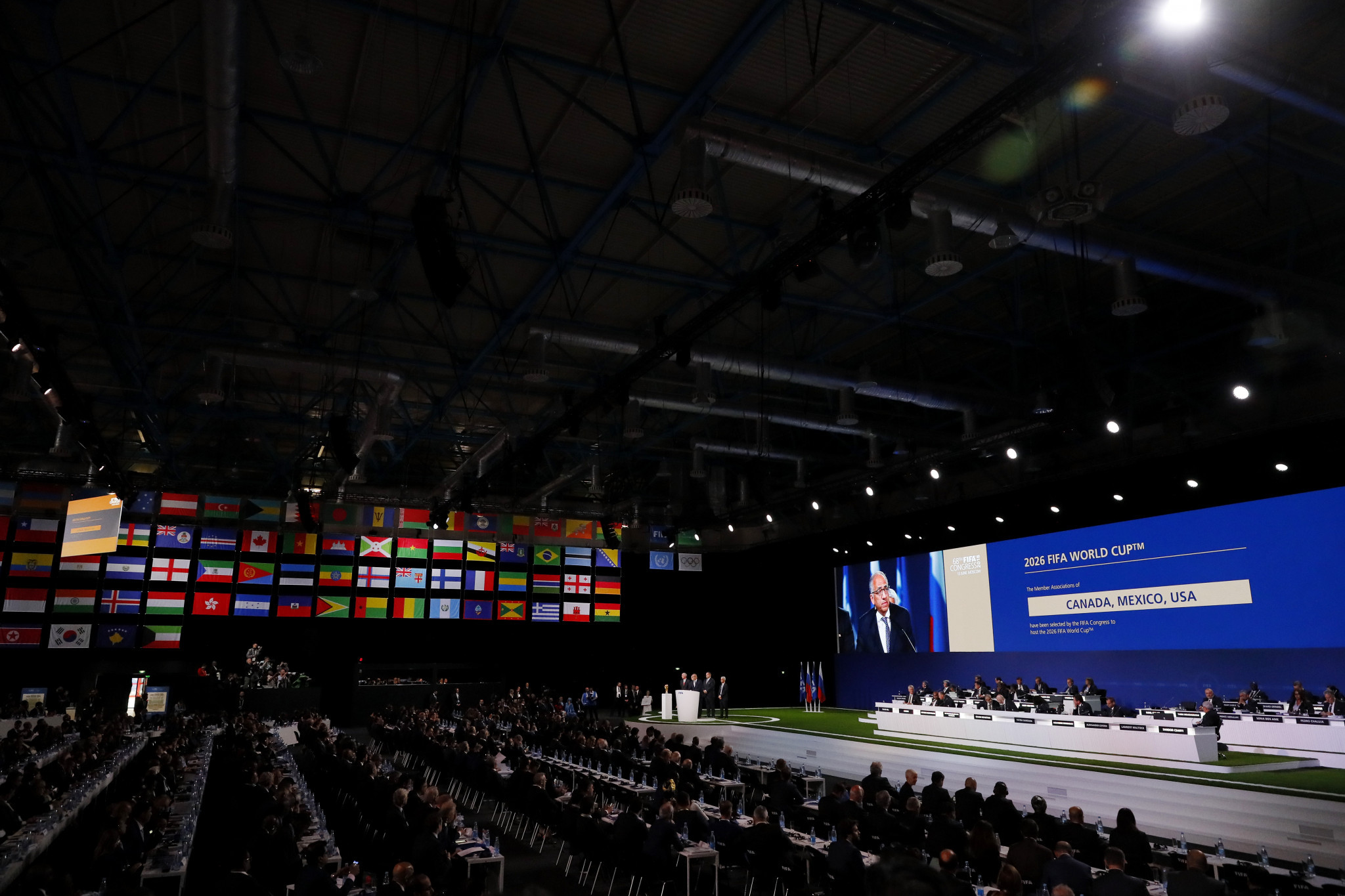 Delegates cast their votes electronically before they were published by FIFA ©Getty Images