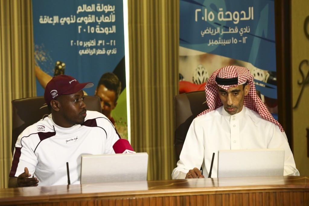 Qatar's F34 javelin world-record holder Abdelrahman Abdelqader (left) will be one of the host's hopes for gold