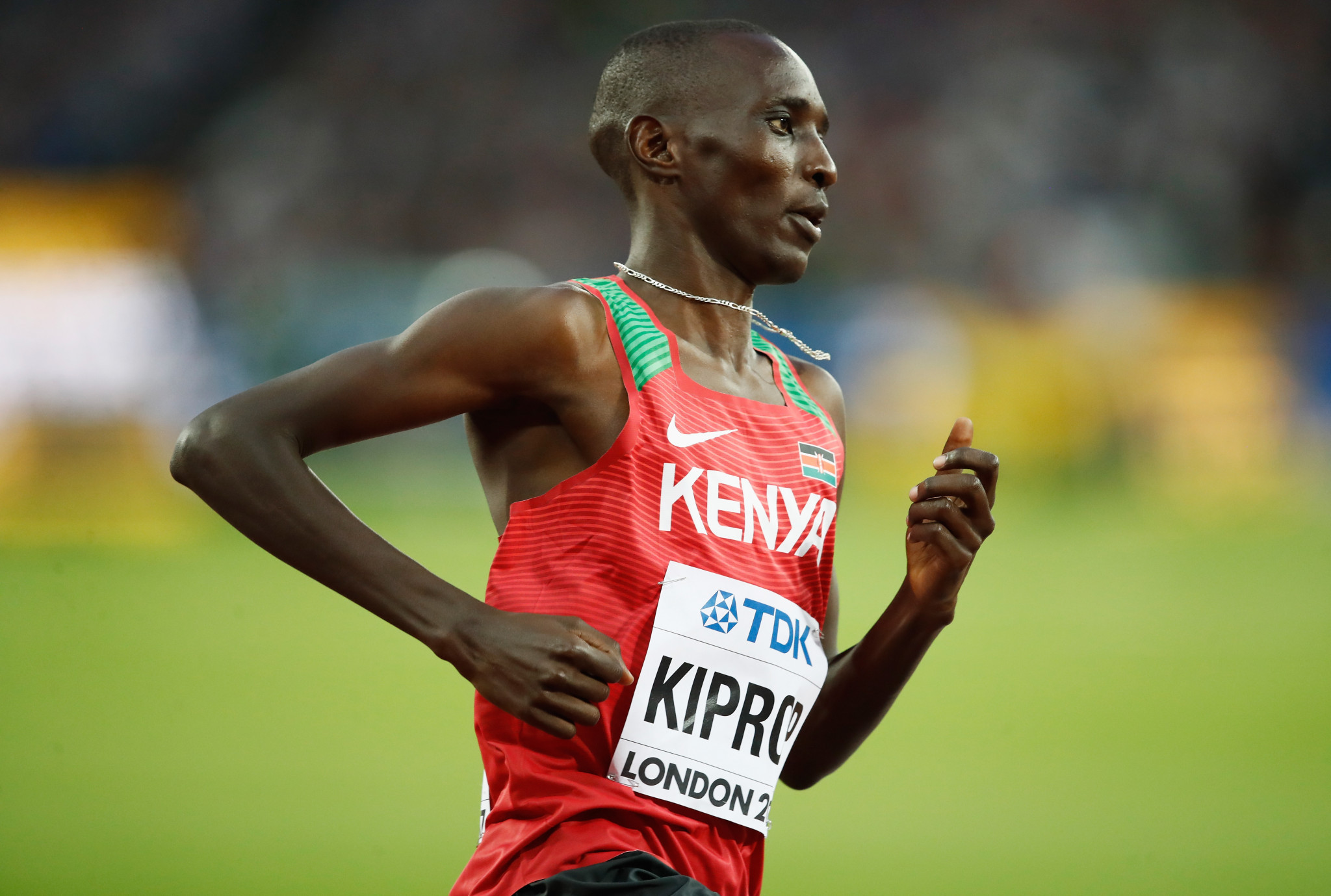 Three-time world champion Asbel Kiprop says he has given up trying to prove his positive doping sample was contaminated ©Getty Images