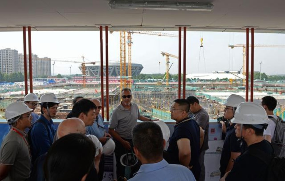 ISU technical delegates recently visited the construction site for the Beijing 2022 speed skating venue ©Beijing 2022