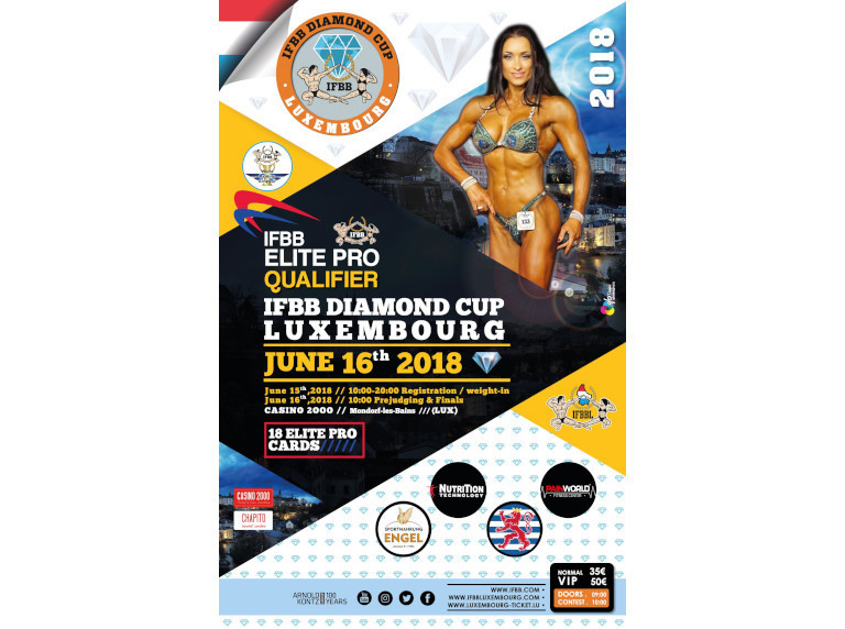 Luxembourg set to host first-ever IFBB Diamond Cup in Mondorf-les-Bains