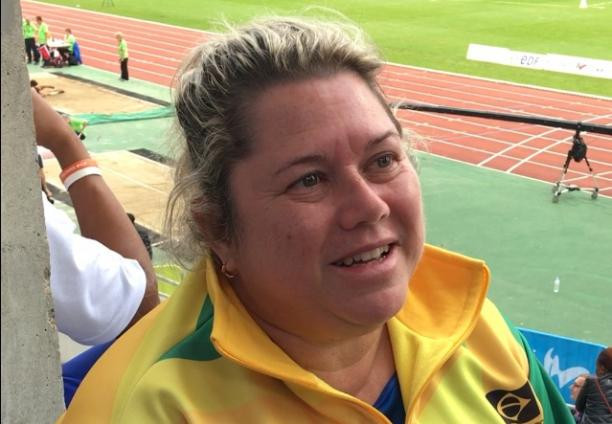 Gomes speaks after her world record breaking throw ©IPC
