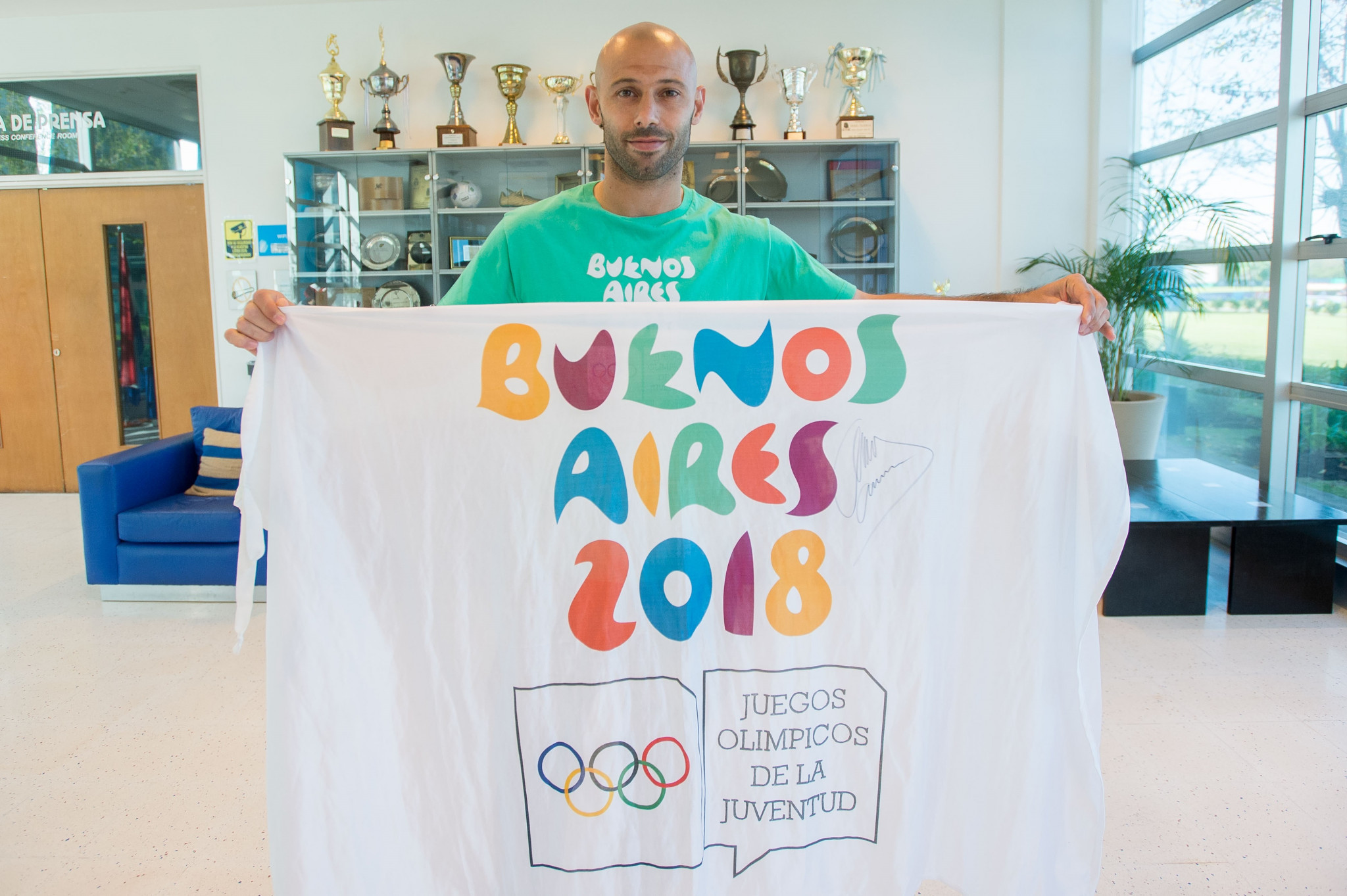 Argentina's most capped footballer Mascherano named ambassador for Buenos Aires 2018