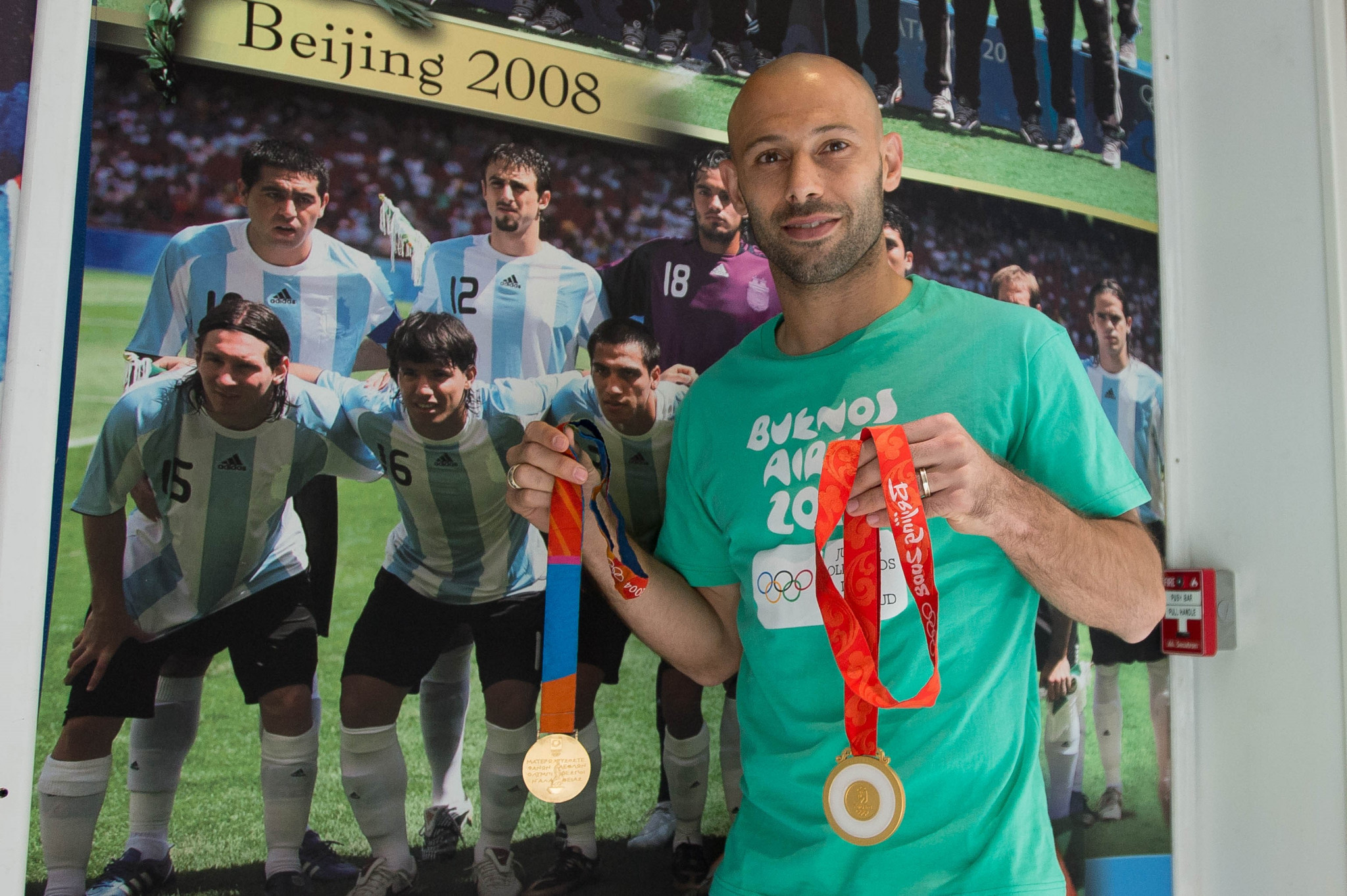 Javier Mascherano is one of only two Argentinians to have won two Olympic gold medals ©Buenos Aires 2018
