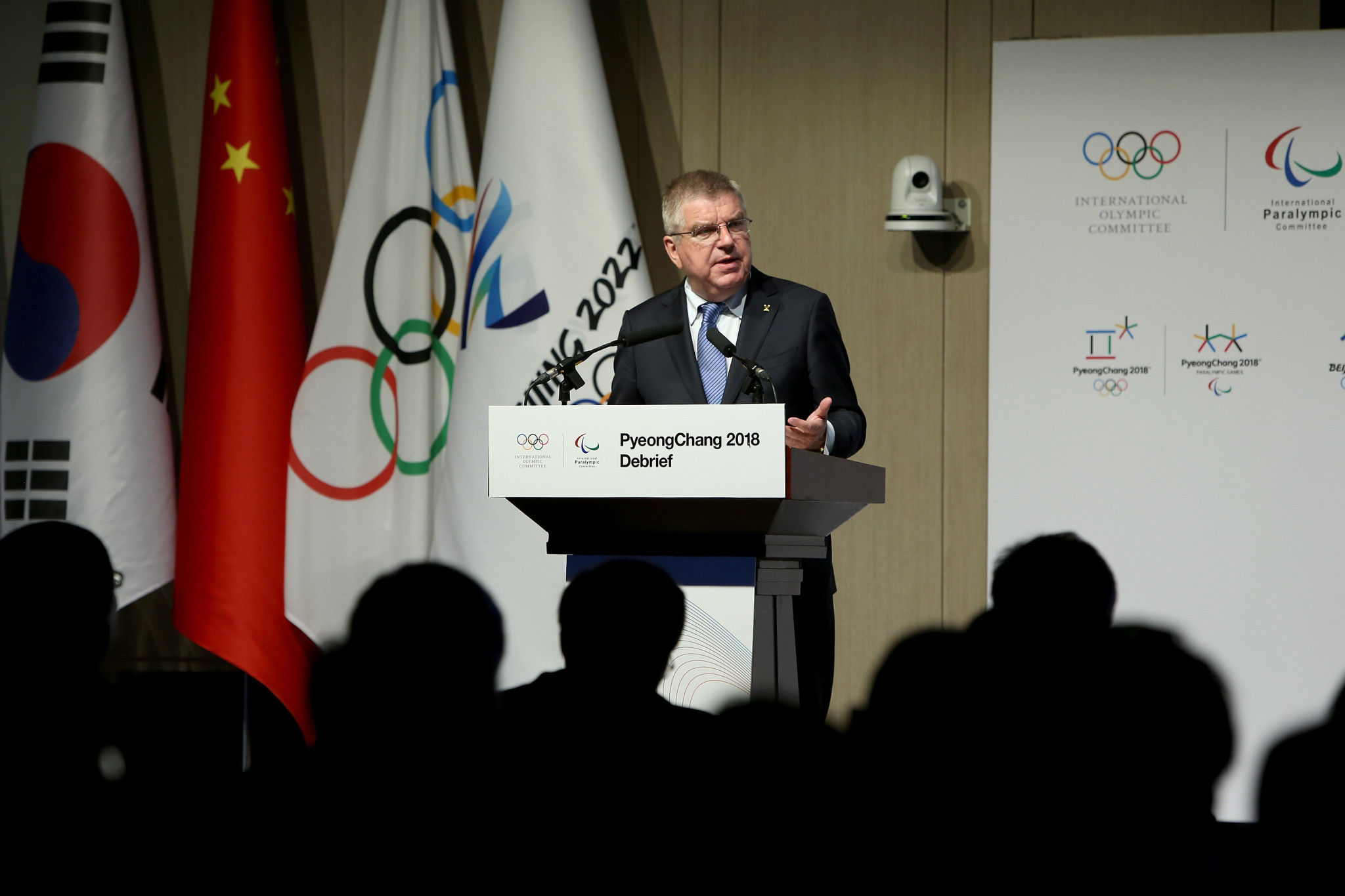 IOC President Thomas Bach was among those present at the Pyeongchang 2018 debrief ©Getty Images
