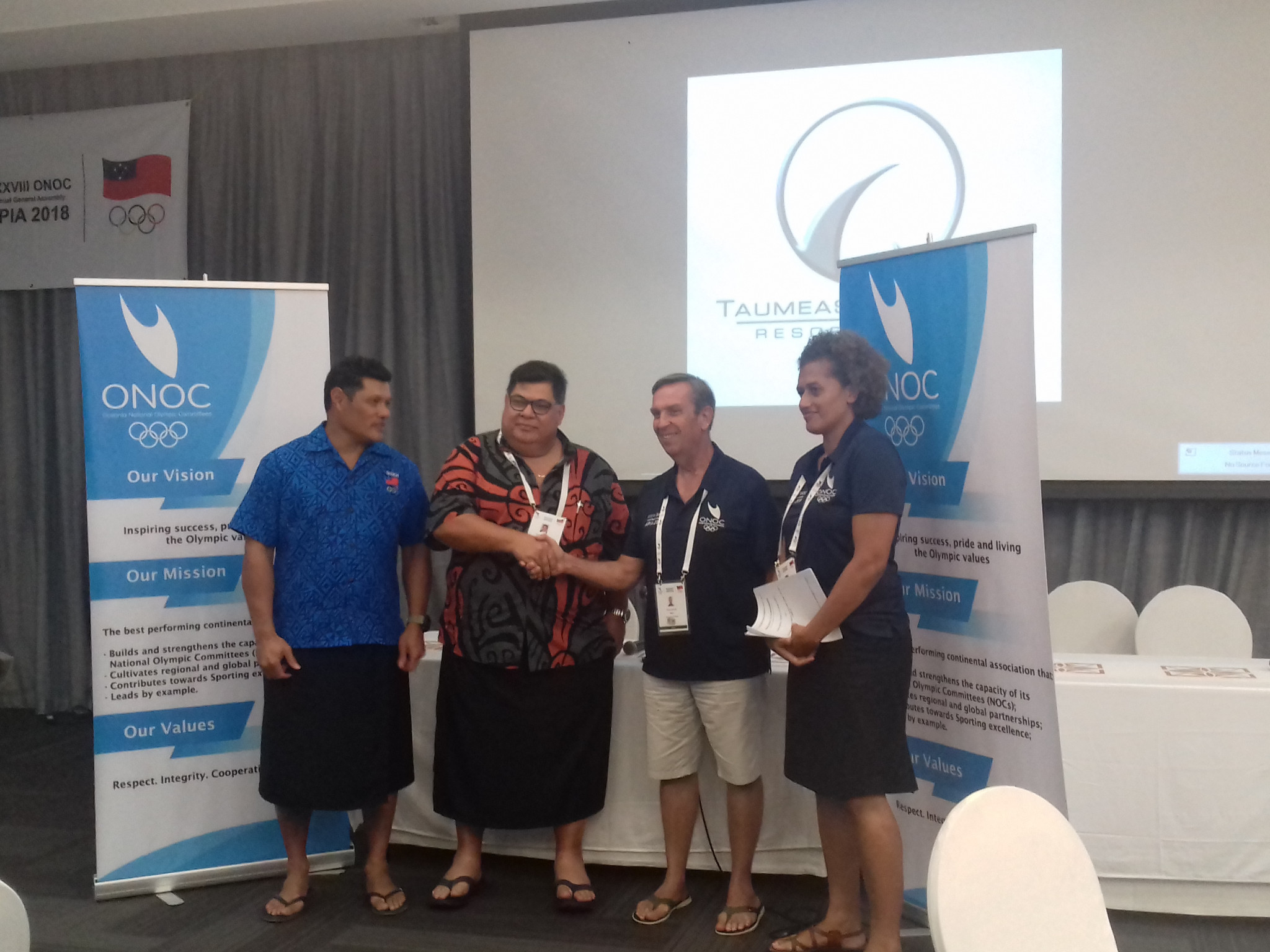 ONOC and Samoan NOC sign education programme deal