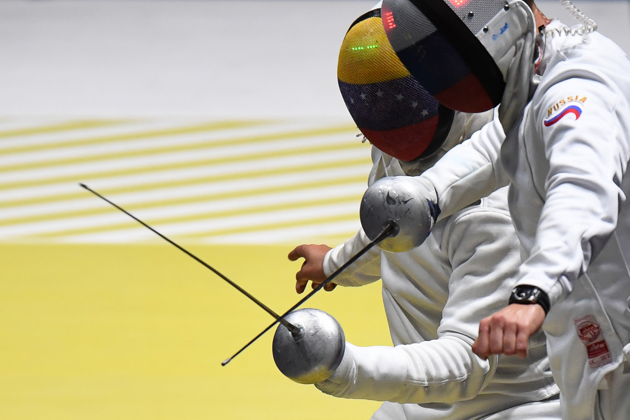 Venezuela's Ruben Limardo was unable to defend his men's epee title ©Getty Images