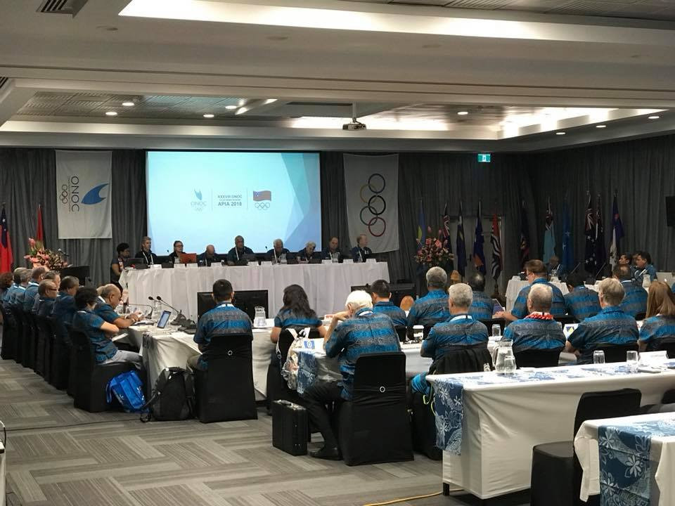 ONOC President praises successful meetings as constitution and strategic plan approved at General Assembly