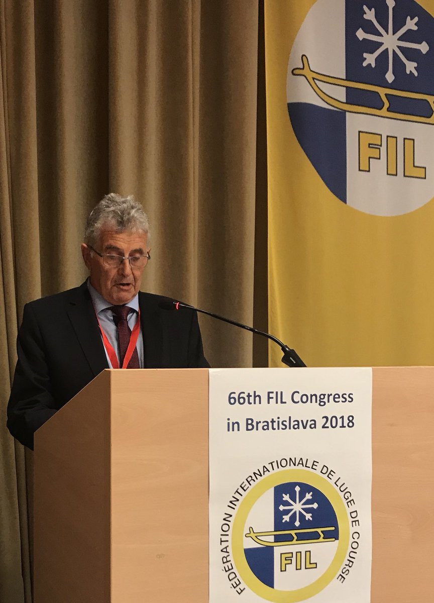 Austria's Peter Knauseder was elected as FIL vice-president for natural track at the world governing body's Congress in Bratislava, beating his Russian rival Natalia Gart ©FIL