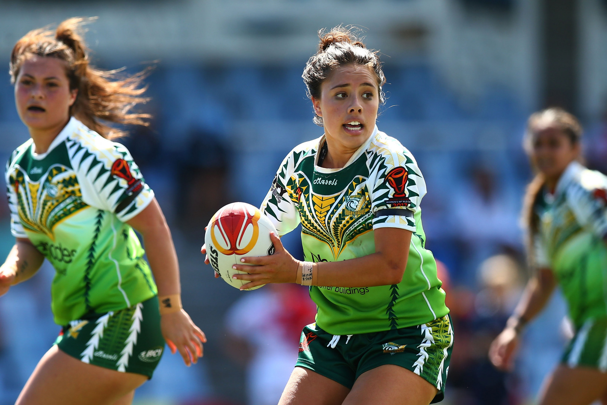 Cook Islands competed at the Women's Rugby League World Cup in 2017 and might soon be able to at the Pacific Games ©Getty Images