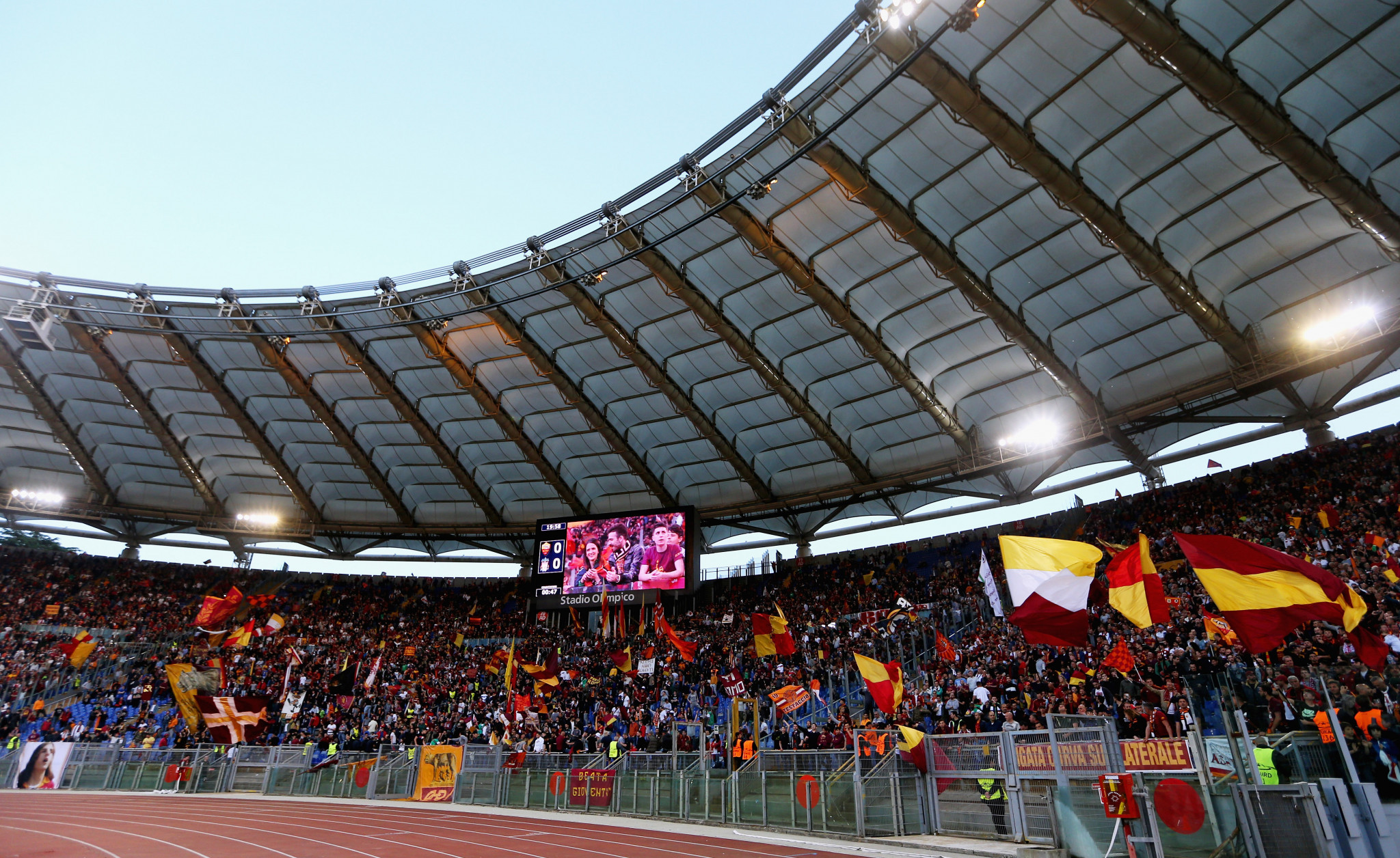 Roma have played their home matches at the Stadio Olimpico since 1953 ©Getty Images