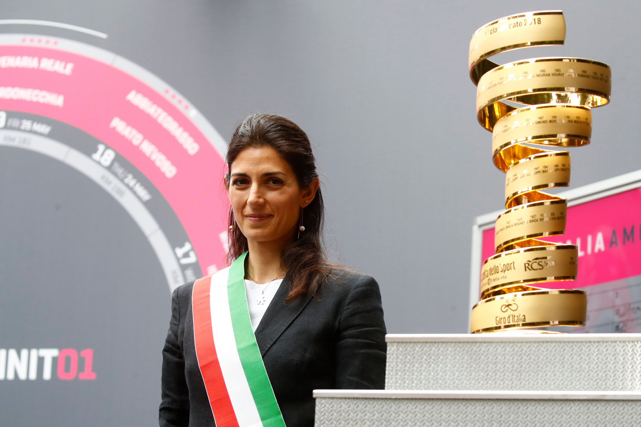 Rome Mayor Virginia Raggi has also spoken to city prosecutors in relation to the probe ©Getty Images