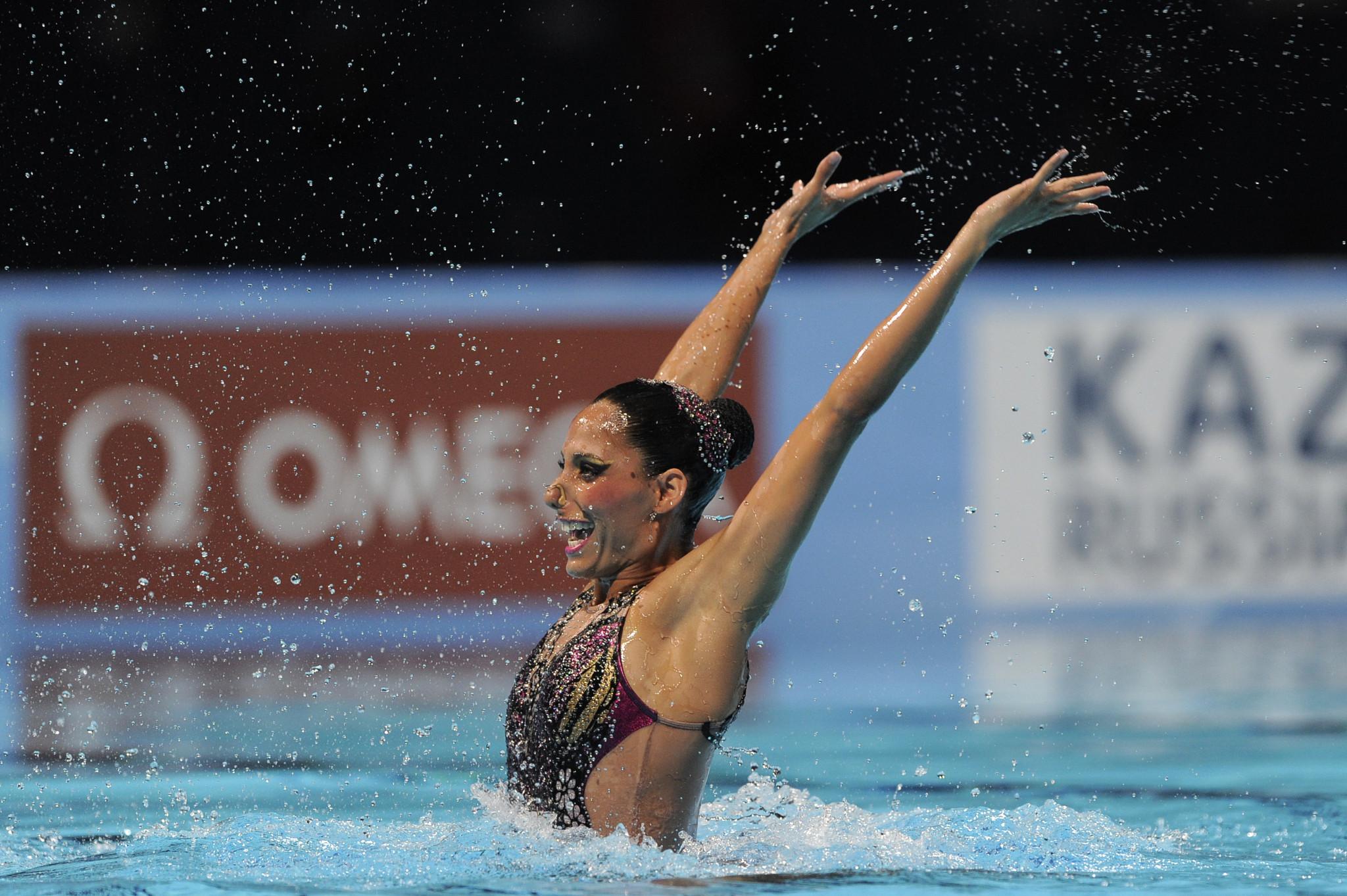 Mexico's Nuria Diosdado Garcia won the solo free routine event ©Getty Images