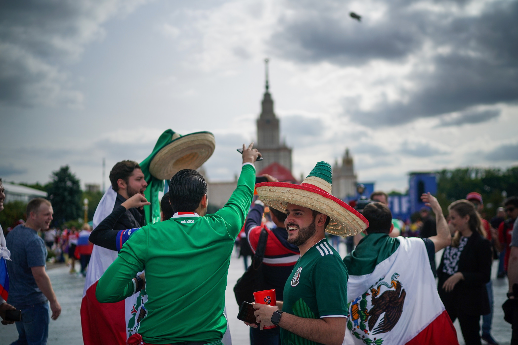 At least seven people, including Mexican World Cup fans, were injured in the crash ©Getty Images