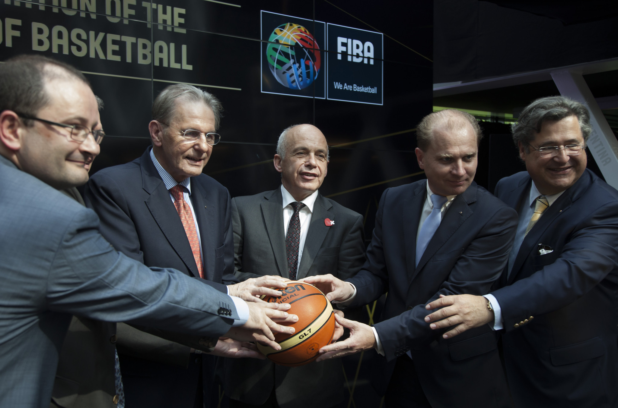 Patrick Baumann, left, first joined FIBA in 1994 ©Getty Images