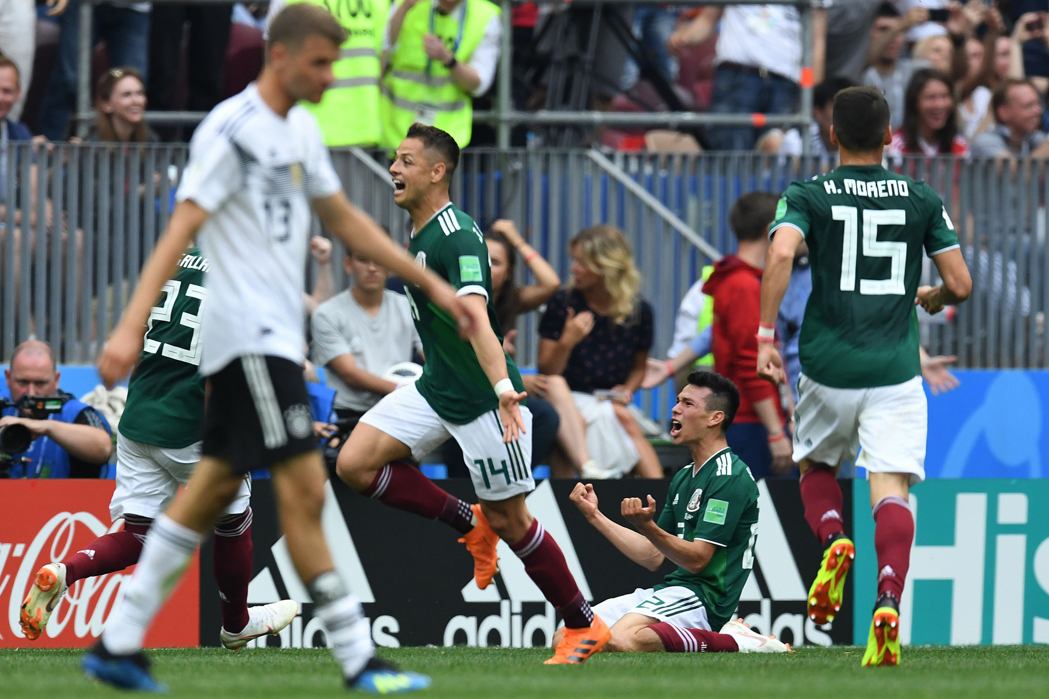 Mexico celebrate their win against Germany ©Getty Images