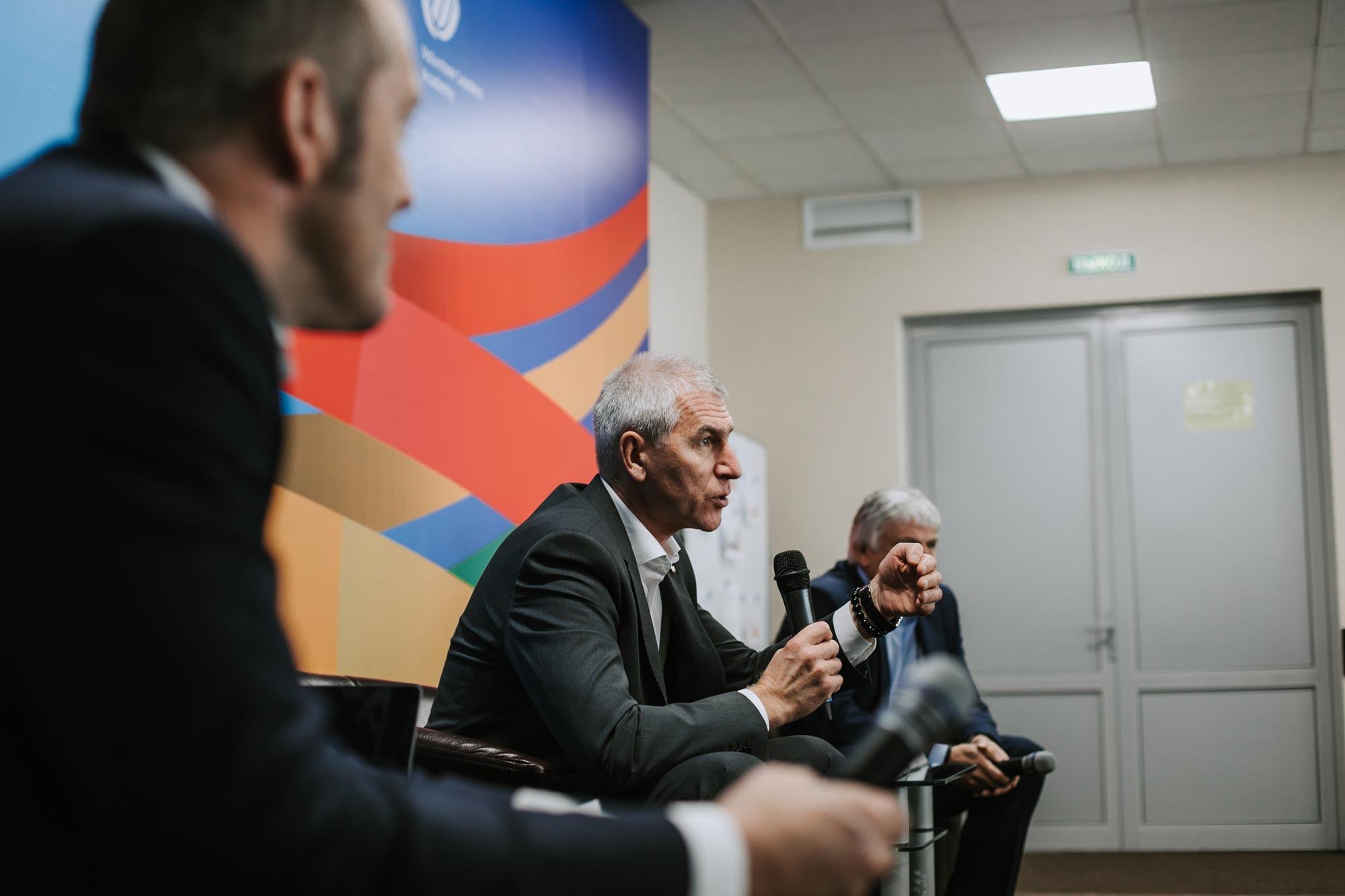 FISU President Oleg Matytsin was present at the Steering Committee meeting in Kazan ©FISU