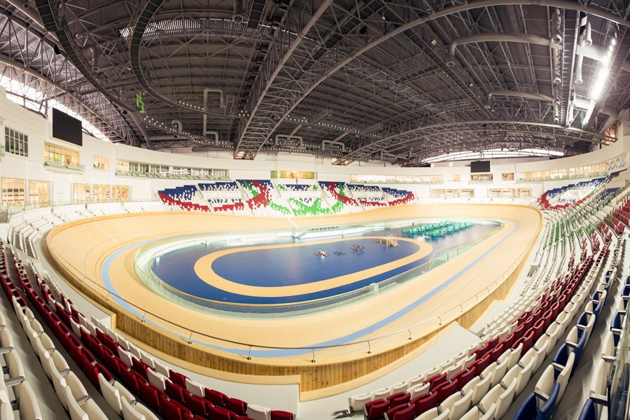 "The velodrome in Ashgabat is considered among the largest in the world, and of an ""Olympic"" standard ©Arup"