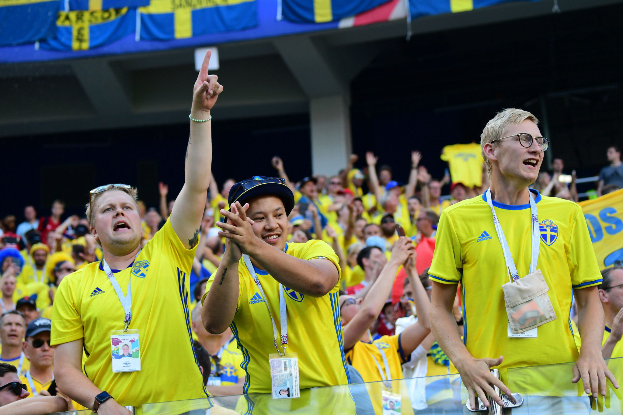 Sweden fans celebrate their victory ©Getty Images