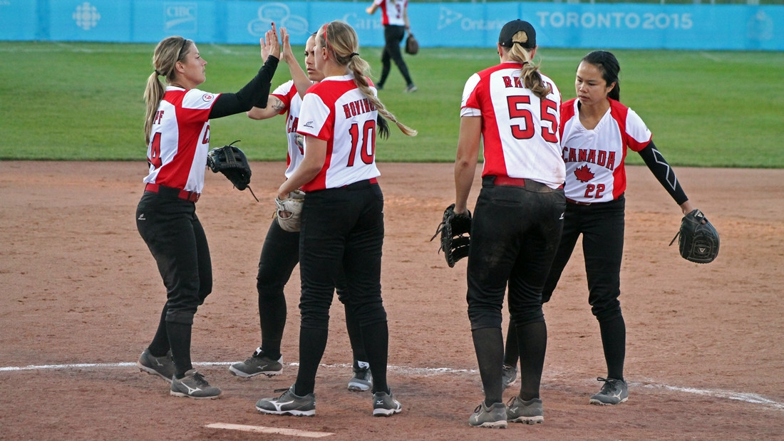 Canadian women's softball team tour Japan prior to August World Championships