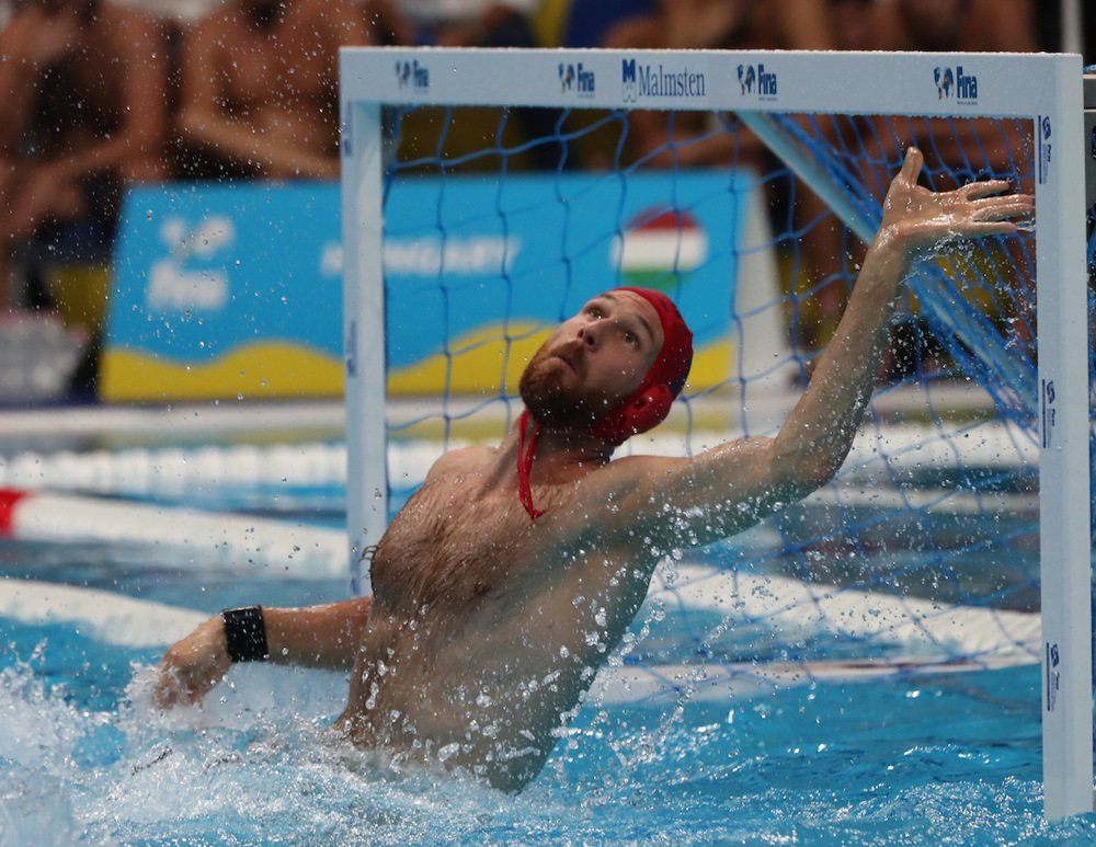 Hungarian captain Viktor Nagy managed a save percentage of 69 per cent versus Australia ©Getty Images