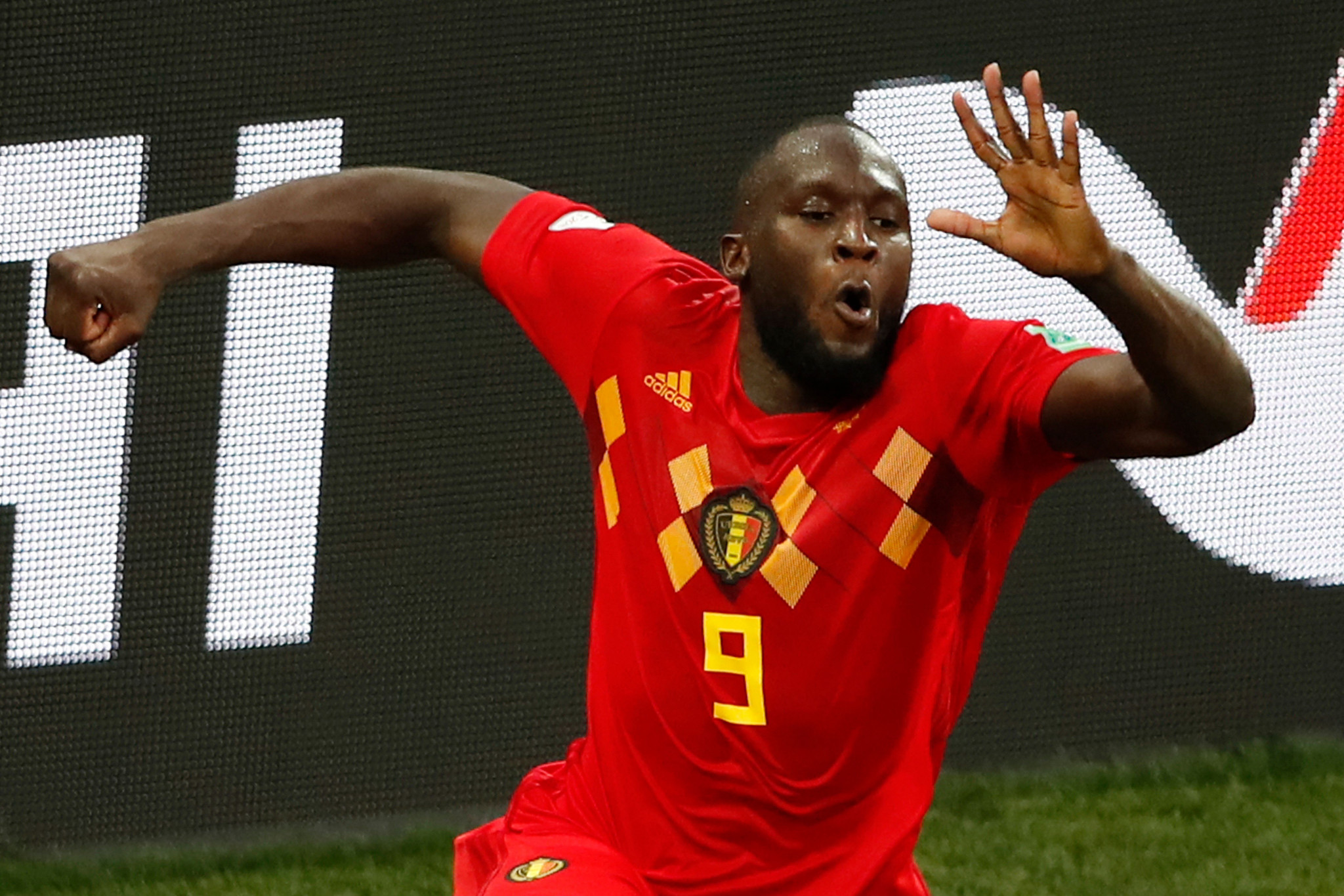 Romelu Lukaku scored twice for Belgium in their win over Panama ©Getty Images