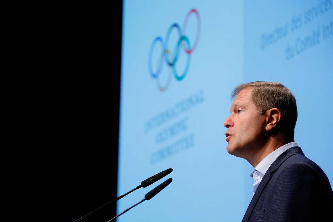 Timo Lumme announced the new Lacoste launch in Lausanne ©IOC