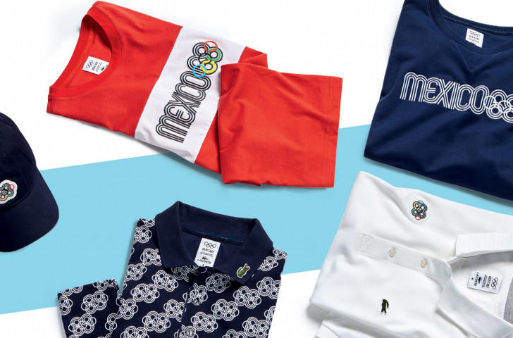 A new line of men's apparel by Lacoste was launched with its first edition celebrating the 50th anniversary of the Grenoble Winter Games and the Mexico City Summer Games ©IOC